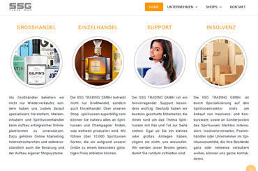 WordPress Projekt Spirituosen - Web Agentur FRASCHE.de - Geschäftszweige