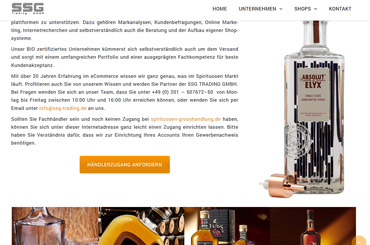 WordPress Projekt Spirituosen - Web Agentur FRASCHE.de - Designkomponenten