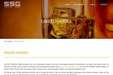 WordPress Projekt Spirituosen - Web Agentur FRASCHE.de - Bannergestaltung