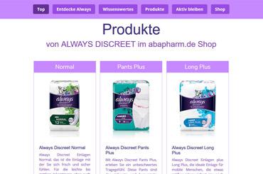 Web Projekt Gesundheit - Web Agentur FRASCHE.de - Always Discreet