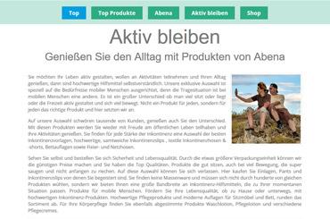 Web Projekt Gesundheit - Web Agentur FRASCHE.de - Abena