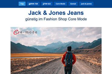 Projekt Landingpage Mode - Web Agentur FRASCHE.de - Banner