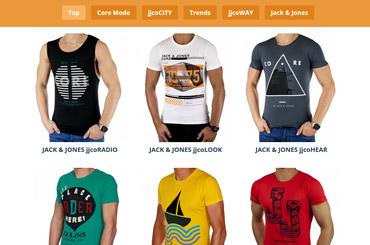 Projekt Landingpage Mode - Web Agentur FRASCHE.de - T-Shirts