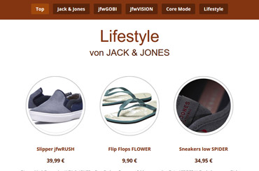 Projekt Landingpage Mode - Web Agentur FRASCHE.de - Lifestyle