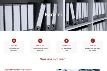 WordPress Projekt Kanzlei - Web Agentur FRASCHE.de - Ordnerregal