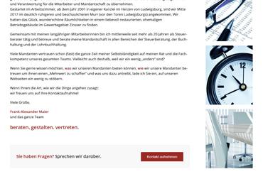 WordPress Projekt Kanzlei - Web Agentur FRASCHE.de - Texte