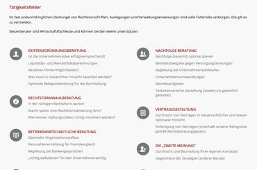 WordPress Projekt Kanzlei - Web Agentur FRASCHE.de - Aufzählungen