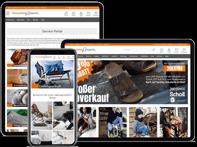 Referenzen Frasche.de - Hausschuhexperte.de Online Shop