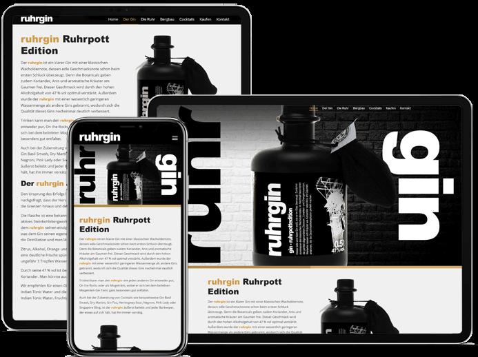 Referenzen Frasche.de - Onepage Design Ruhrgrin