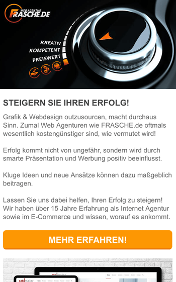 Newsletter Design iPhone