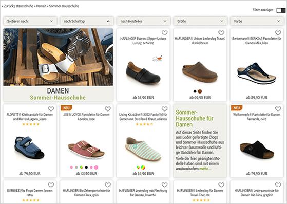 Hausschuh Shop - Suchergebnis