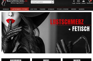 Web Projekt BDSM Shop - Web Agentur FRASCHE.de - Banner