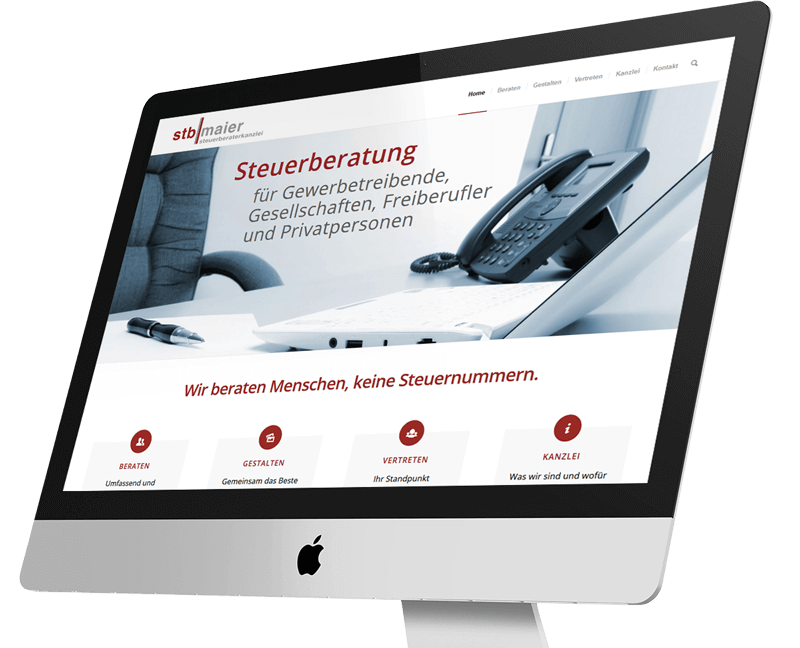 WordPress Projekt Kanzlei - Web Agentur FRASCHE.de - Monitor