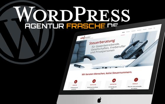 wordpress agentur frasche projekt