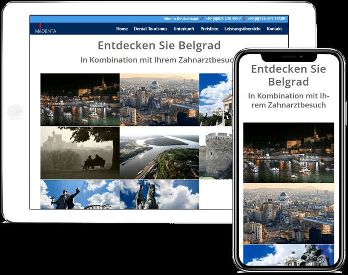 wordpress projekt zahnarzt ipad-ihone