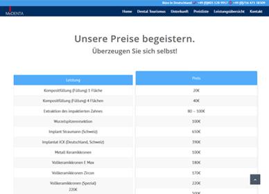 wordpress projekt zahnarzt portfolio 1