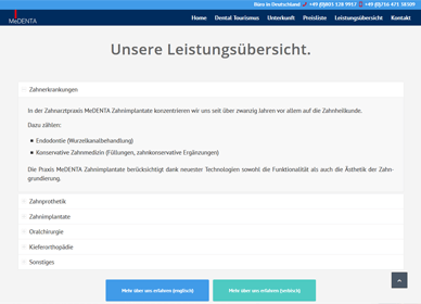 wordpress projekt zahnarzt portfolio 3
